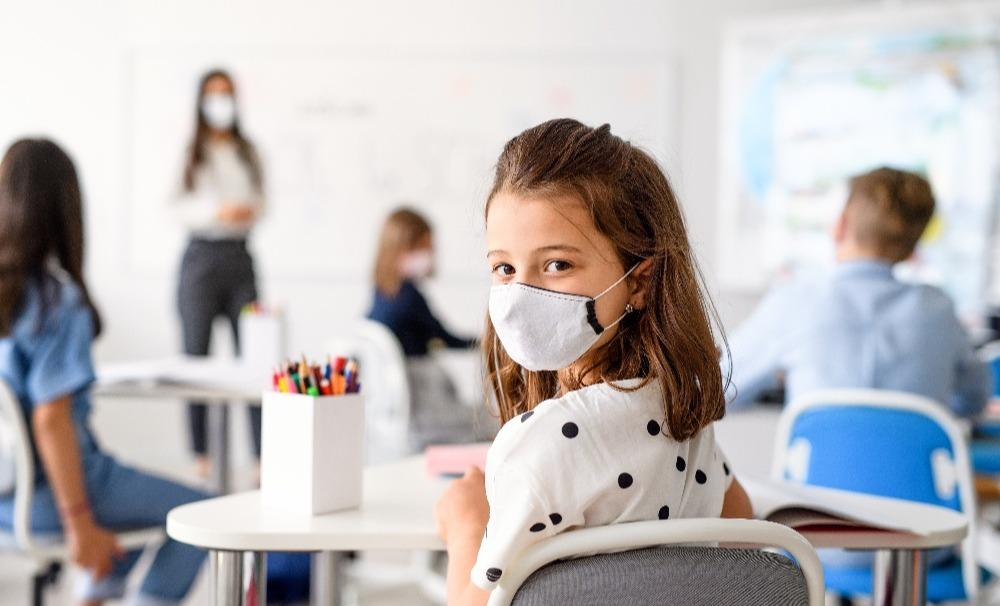 SMART Female Student Wearing Mask-1